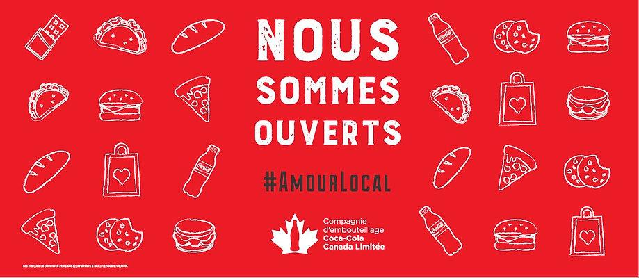 Affiche pour la campagne client #LoveYourLocal