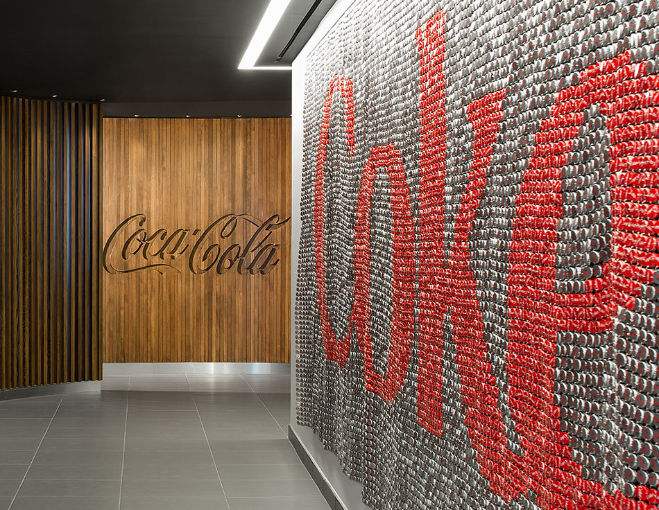 Picture of the inside the Coca-Cola Canada building