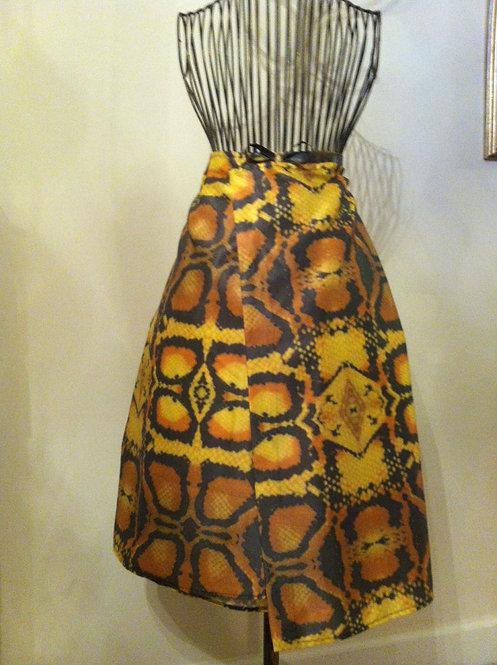 Yellow Snake Skirt