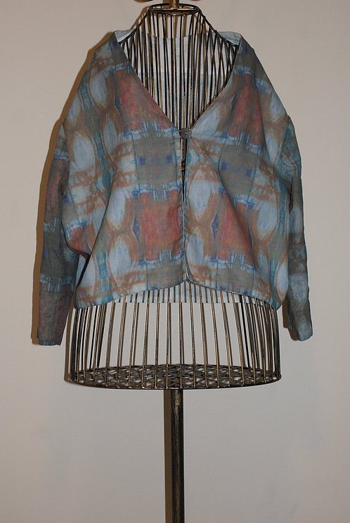 Painting Cropped Jacket