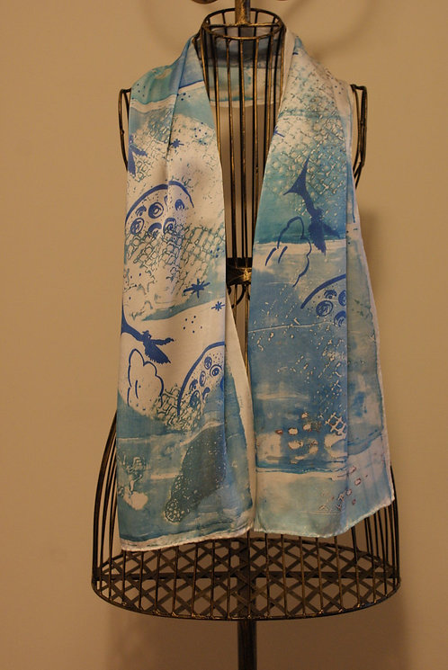 Fallen Angel Blue Scarf