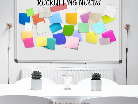 Recruiting Needs List