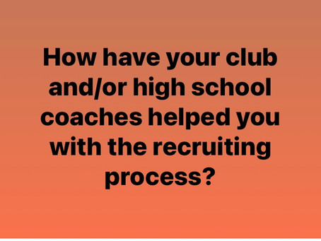 How is your high school coach helping?