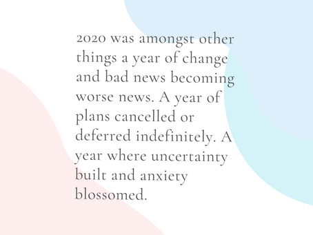 Reflection on 2020