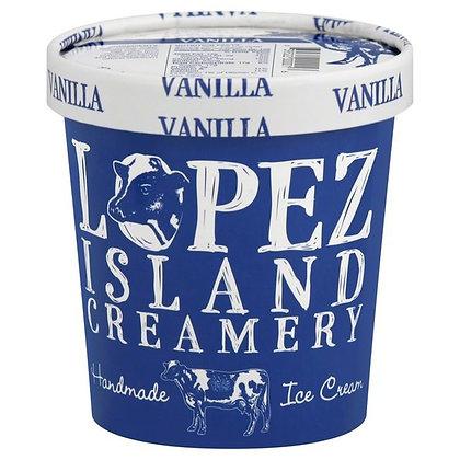 Lopez Island Creamery Handmade Ice Cream Vanilla 16 oz