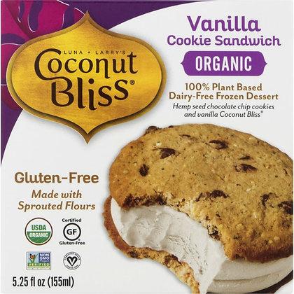 Luna & Larry's Coconut Bliss  Cookie Sandwich, Vanilla, Box 5.25 fl oz