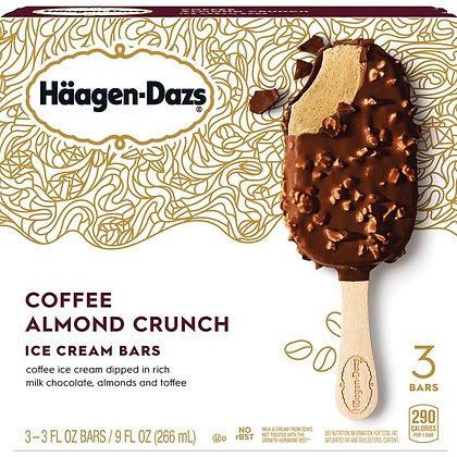 Haagen-Dazs Coffee Almond Crunch Ice Cream Bars 3 x 3 fl oz