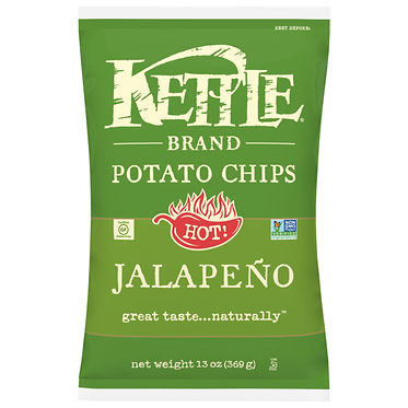 Kettle Brand Potato Chips, Jalapeno Kettle Chips 13 oz