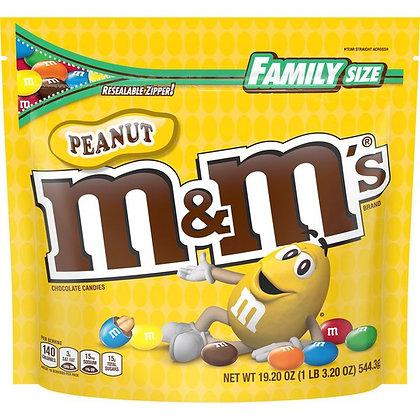 M&M's Peanut Milk Chocolate Candies 19 oz