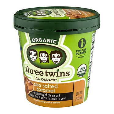 Three Twins Organic Sea Salt Caramel Ice Cream 1pt