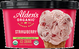 Alden's Organic Strawberry Ice Cream 48 oz