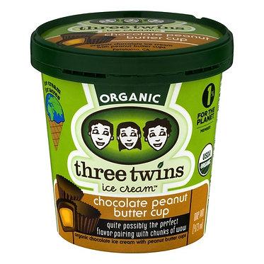 Three Twins Organic Chocolate Peanut Butter Cup 1 pt