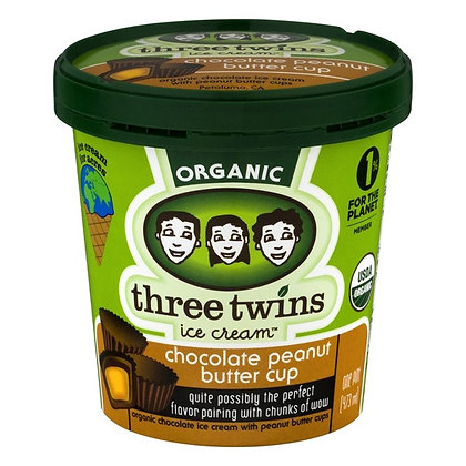 Three Twins Organic Chocolate Peanut Butter Cup 1 pt