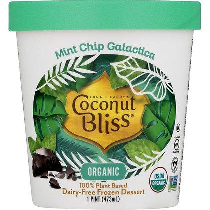 Coconut Bliss Frozen Dessert, Dairy-Free, Organic, Mint Chip Galactica 1 pt