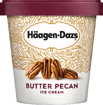 HAAGEN-DAZS Butter Pecan Ice Cream 14 fl oz