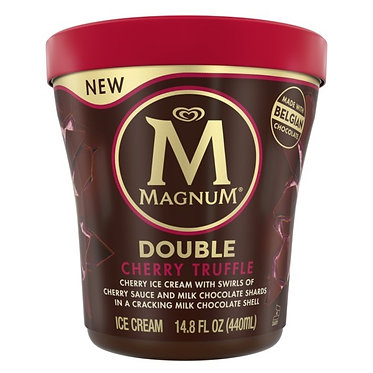 MAGNUM DOUBLE CHERRY TRUFFLE ICE CREAM TUB