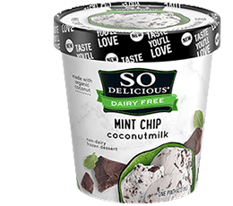 So Delicious Dairy Free Coconut Milk Mint Chip 16 fl oz