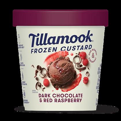 TILLAMOOK FROZEN CUSTARD DARK CHOCOLATE & RED RASPBERRY 15OZ