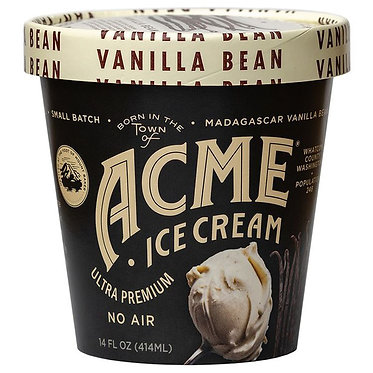Acme Ice Cream Vanilla Bean Super Premium Ice Cream 16 fl oz