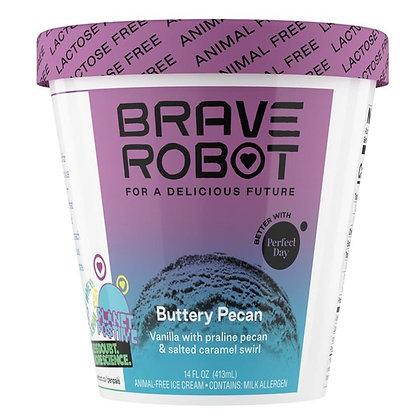 Brave Robot Ice Cream, Animal-Free, Buttery Pecan 14 oz