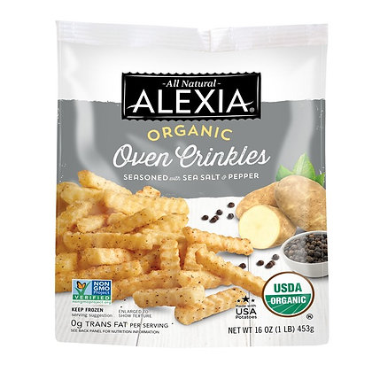 Alexia Organic Oven Crinkles with Sea Salt & Pepper 16 oz