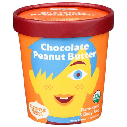 Coconut Bliss, Dairy-Free, Organic, Chocolate Peanut Butter 1 pt