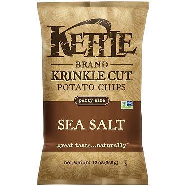 Kettle Brand® Krinkle Cut Sea Salt Potato Chips 13 oz
