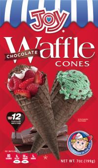 Joy Chocolate Waffle Cone 12ct.