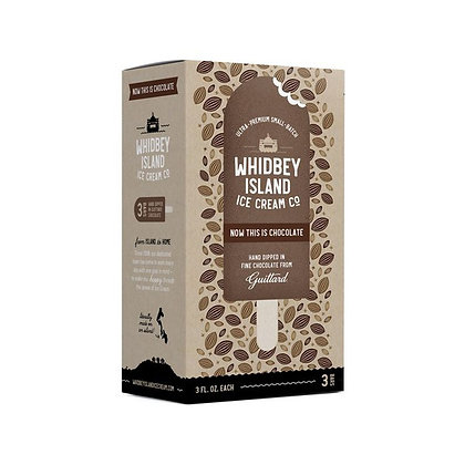 Whidbey Island Ice Cream Bars, Ultra Premium, Home Made, Chocolate 3 x 3 fl oz