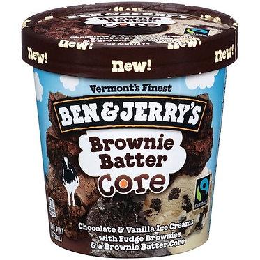 Ben & Jerry's Brownie Batter Core Ice Cream 1 pt