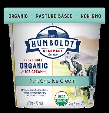 Humboldt Creamery Organic Mint Chip Ice Cream