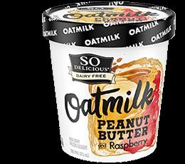 So Delicious Peanut Butter And Raspberry Oatmilk Non-dairy Frozen Dessert 1 pt
