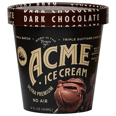 Acme Ice Cream Dark Chocolate Ice Cream 16 fl oz