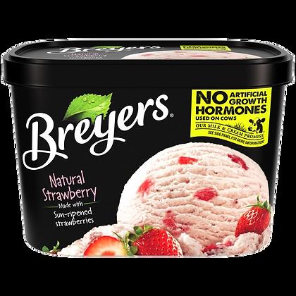 Breyers Natural Strawberry Ice Cream 48 oz