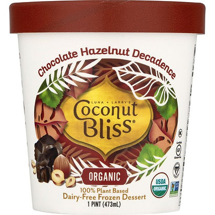 Coconut Bliss , Dairy-Free, Organic, Chocolate Hazelnut Decadence