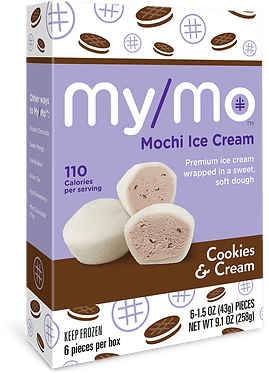 MyMo Mochi Cookies & Cream Mochi Ice Cream 9.1 oz (258g)