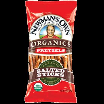 Newman Own Organic Salted Pretzel Sticks