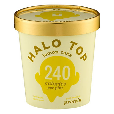 Halo Top Creamery Lemon Cake 1 pt
