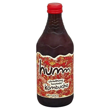 Humm Kombucha, Strawberry Lemonade 14 oz