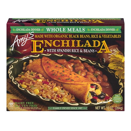 Amy's Enchilada with Spanish Rice & Beans Meal 10 oz
