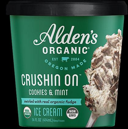 ALDEN'S ORGANIC ICE CREAM CRUSIN ON COOKIES & MINT