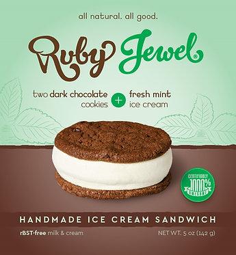 Ruby Jewel Treats Dark Chocolate With Fresh Mint Ice Cream 5.1 oz