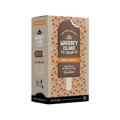 Whidbey Island 3 Premium Home Made Ice Cream Bars, Orange Chocolate