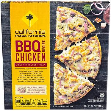 California Pizza Kitchen Crispy Thin Crust BBQ Recipe Chicken Pizza 14.7 oz