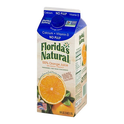 Florida's Natural Premium Orange Juice No Pulp Calcium & Vitamin D 59 fl oz