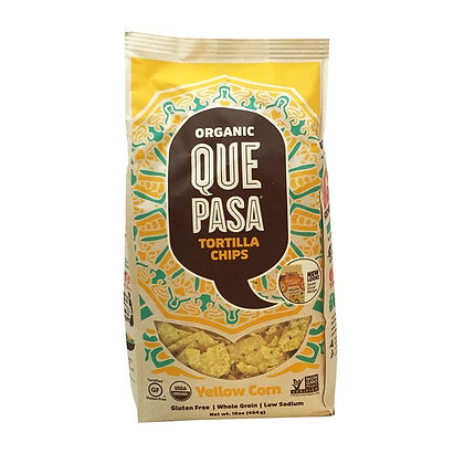 Que Pasa Organic Yellow Corn Tortilla Chips 16 oz
