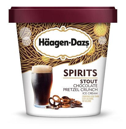 HAAGEN-DAZS SPIRITS Stout Chocolate Pretzel Crunch Ice Cream 14 fl. oz.