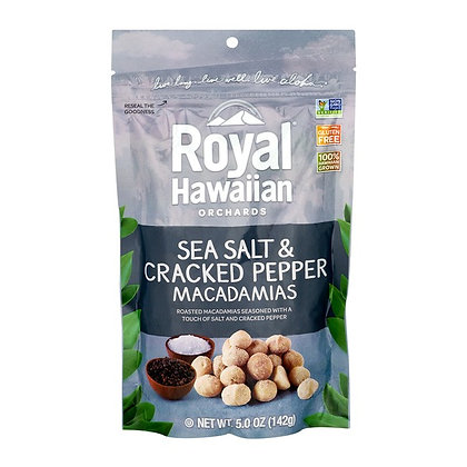 Royal Hawaiian Orchards Macadamias Sea Salt & Cracked Pepper 5 oz