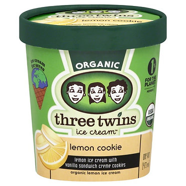 Organic Lemon Cookie Ice Cream 1pt