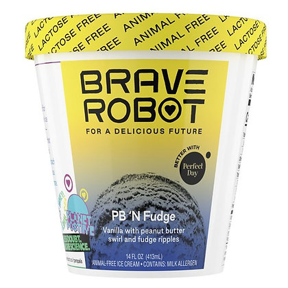 Brave Robot Ice Cream, Animal-Free, Pb 'N Fudge 14 oz